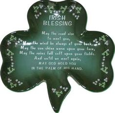 Irish Stuff - Irish Decor- Irish Blessing Plate.