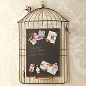 Magnetic chalkboard with bird magnets