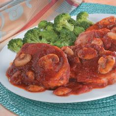 Tired of the same old pork chops? Italian sauce seasoned with mushrooms and oregano makes these sauteed lean pork chops different and delicious.