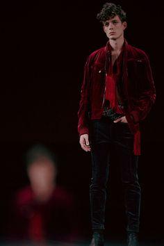 Haider Ackermann AW15 Mens Red Velvet Jacket Zips Scarf