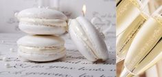 Luxurious Pearly White French Macarons for Dessert! French Macaroons, White Dinner, White Food, Le Diner, Snacks, Cakepops, White Christmas, Christmas Kitchen, Sweets