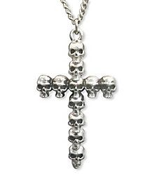 Skull Cross Necklace - Add the perfect elements to your Gothic costume when you wear the Skull Cross Necklace. This silver, chain features a cross charm made out of Gothic Chokers, Halloween Makeup, Halloween Vampire, Halloween Accessories, Spirit Halloween, Halloween Decorations, Skull, Chain, Silver