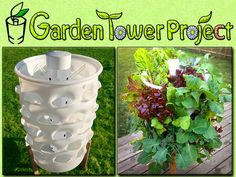 GARDEN TOWER: Composting + 50 Plants = Fresh Food Anywhere. by Garden Tower Project, via Kickstarter.