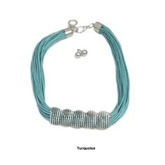 textured string necklace & silver earring sset @nomorerack.com $15