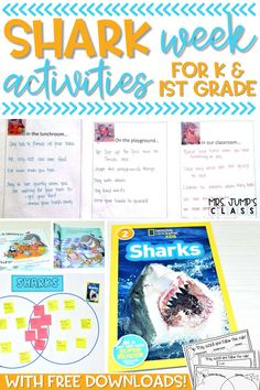 If you are having an ocean unit for kindergarten in your classroom, these shark activities can be a great addition. This blog post includes a kindergarten worksheets freebie for sharks, shark read alouds and other shark themed resources for elementary grades.
