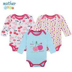 Baby Bodysuit 3 Pcs Cotton Babies Newborn 100% Cotton Baby Body Long Sleeve Next Infant Boy Girl Climb Clothes