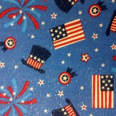 Holiday Inspirations Patriotic Fabric- Hats