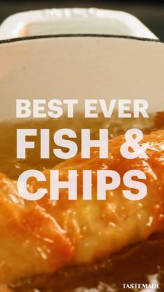 It's time for the Best Ever Fish and Chips recipe that you will ever come across. Yes you read that correctly. The Best Ever Fish and Chips. Perfect for lunch and dinner this British classic family favourite will go down a treat with everyone of all ages. British Fish And Chips, Best Fish And Chips, Classic Fish And Chips Recipe, Best Chips, Shellfish Recipes, Seafood Recipes, Cooking Recipes, Healthy Recipes, Healthy Food