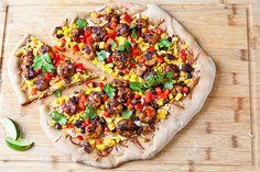 Shrimp, Black Bean, and Corn Pizza by foodiebride, via Flickr