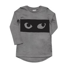 Long Sleeve Fin T Shirt Vintage Washed Grey Eyes – phunky