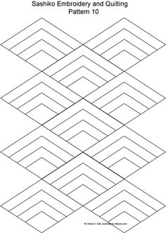 FREE Sashiko Embroidery Patterns - Set 2: Sashiko Pattern 10