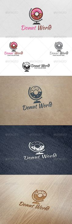 Donut World - Logo Template