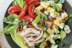 If you're looking for leftover Easter egg recipes, browse no further: Here are six recipes that transform leftover Easter eggs into fresh, flavorful salads. Easy Chicken Recipes, Egg Recipes, Wine Recipes, Great Salad Recipes, Healthy Recipes, Healthy Meals, Classic Cobb Salad Recipe, Rotisserie Chicken, Healthy Eating