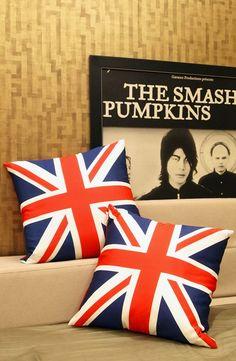 A pair of Union Jack Flag Cushion
