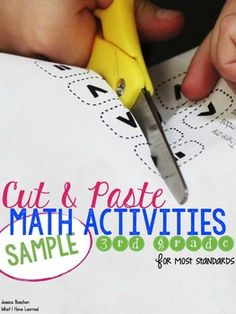 Cut and Paste Math Activities for Third Grade {Most Standards}