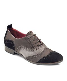 Take a look at this Black & Shale Norwalk Oxford by ECCO on #zulily today!