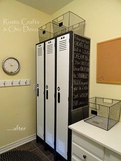 school locker makeover | ... these old shop lockers and made them over at my DIY Locker Makeover