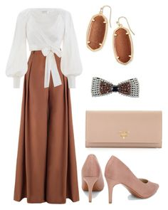 A fashion look from February 2018 featuring white shirt, brown pants and pointed-toe pumps. Browse and shop related looks. Teen Fashion Outfits, Mode Outfits, Classy Outfits, Modest Fashion, Look Fashion, Stylish Outfits, Girl Fashion, Autumn Fashion, Fashion Dresses