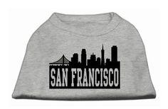 San Francisco Skyline Screen Print Shirt Grey Med (12)