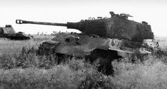 Abandoned King Tiger with Panther gun, Eastern Germany, March 1945  I feel like this is fake.