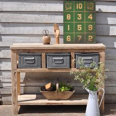New in @homebarn reclaimed wood console table with industrial drawers #reclaimed #vintage #home #interiors #rustic #interiordesign http://www.homebarnshop.co.uk