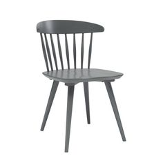 """Banquette  22""""w x 21""""D x 31""""H Britain Dining Chair Gray Lacquer, angle view"""