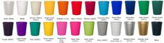 cups of every color!