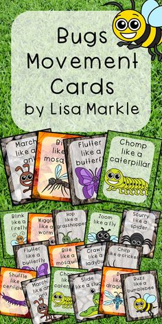 These bug and insect themed movement cards will keep your students active while they're excited for the weather to warm up! Keep those excited little ones busy indoors when it's too rainy to go outside! All while teaching them about different actions, bug names and improving their gross motor skills! Print and cut these out, laminate them and keep them all together on a metal ring. Put on some music and let your kids dance!