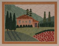 BB Needlepoint Designs - BB 107 Tuscan Villa, Stitch Guide available