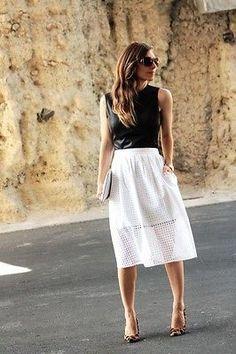 791eae17a7 eBay · White Eyelet SkirtBlack Pleated SkirtPleated SkirtsLeopard Shoes  OutfitLeopard HeelsSkirt OutfitsZara ...