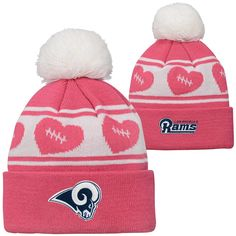 pretty nice 2f5fd ed1b2 Los Angeles Rams TODDLER Baby Pink Cuff Knit Hat