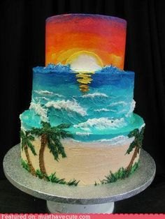 Paradise Beach Cake. What a gorgeous decorating job!