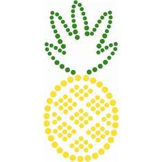 Stencil Pineapple Silhouette 2