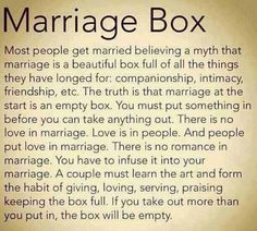 Besy advice on marriage.