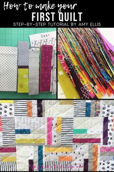 Learn how to quilt with me! Complete with a shopping list of basic quilting supplies to get you started. Learning to make a quilt is a process! I have broken it down into manageable pieces, with all the must-have quilting tools needed. Make your first quilt today! Small Quilts, Easy Quilts, Sewing Basics, Sewing Hacks, Learn To Sew, How To Make, Quilting Tools, Easy Quilt Patterns, Quilting For Beginners