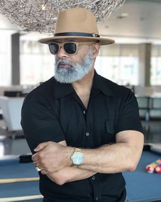 Complete your look with our Mercy Fedora Fashion For Men Over 50, Older Mens Fashion, Stylish Men, Men Casual, Black Men Beards, Beard Game, Beard Styles For Men, Beard No Mustache, Moda Fashion