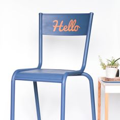 """Chaise Mullca 510 vintage """"Hello"""" leshappyvintage.fr Jouets Fisher Price, Donut Shop, Painted Furniture, Kids Room, Interior, Inspiration, Design, Chairs, Home Decor"""