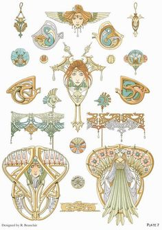 ART NOUVEAU JEWELRY DESIGNS  #JewelryDesign