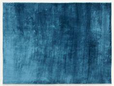 tapis bleu   Tapis à relief shaggy bleu Aspen