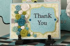Your thank you cards should be as unique as your guests, so grab a stack of cardstock, scrapbook paper and embellishments—like flowers, faceted gemstones and stickers— to give your handmade card that personal, one-of-a-kind look.