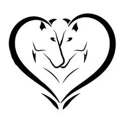 Horses Heart Tattoo Design