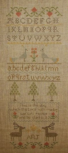 "Completely Stitched Sampler by ""Words Of Praise"" Sampler - This is NOT an antique sampler"