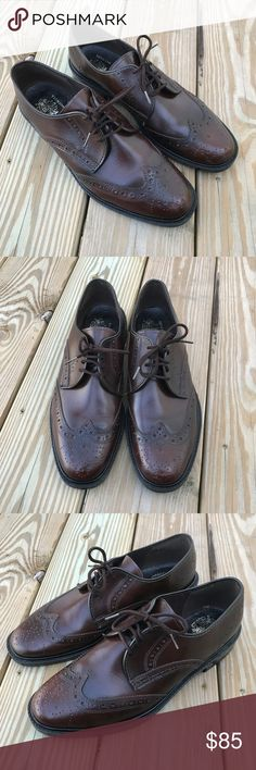J.B. Men's Shoes Brown Real Leather Wingtip Laceup J.B. Men's Shoes Brown Real Leather Wingtip Lace-Up Dress Oxford US 10 Made USA  Brand: J.B.  Color: Brown  Genuine Leather  Size: 10  Made in USA  Pre-owned: used and in very good condition. J.B. Shoes Oxfords & Derbys
