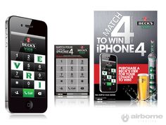#BecksVier #iPhone4 #Promotional POS kit . #AirborneCreative Pos, Iphone 4, Projects, Log Projects, Tile Projects, Iphone 4s