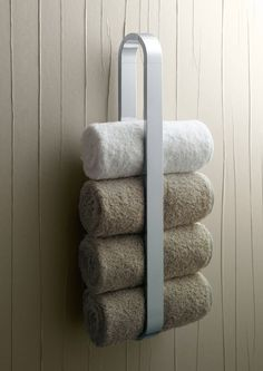 Bathroom, Luxury White Steel Towel Rack And Three White Smooth Towel For  Elegant Bathroom Design: Awesome Towel Rack Ideas For Terrific Bathroom