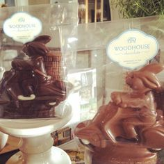 Your eyes aren't deceiving you: those are chocolate #easterbunnies on #Vespas. We've got a limited quantity of these cuties for #easter and #spring!