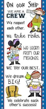 Character Education Banner - On Our Ship / In Our ClassDecorate your classroom with this bright, colorful PIRATES banner. This purchase includes two JPEG images (In Our Class / On Our Ship) which you can upload and print on a vinyl banner.Step-by-step instructions for uploading this image to Vistaprint.com are provided; however, it can also be printed at other places like Staples and Office Max.