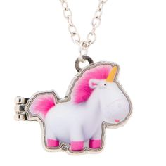 <P>Personalize this Minions Unicorn locket necklace with your own picture! Featuring a small cartoon image of Agnes Gru along with her famous quote from the movie 'It's so fluffy, I'm gonna die!'</P><STRONG>Necklace</STRONG> by <STRONG>Minions</STRONG><P><UL><LI>Lobster clasp <LI>Magnetic locket fastening <LI>Space for small personal photo</LI></UL>