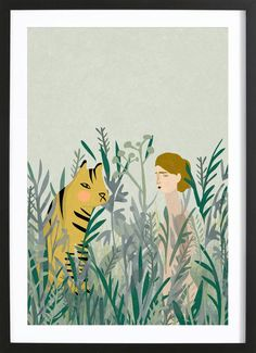 Look for Your Tiger poster | JUNIQE Art Mural, Wall Art, Tiger Poster, Online Posters, Framed Prints, Art Prints, Painting Patterns, Botanical Art, Illustrators