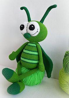 Crochet Grasshopper Amigurumi Grasshopper Crochet Baby Gift | Etsy Cute Crochet, Crochet Toys, Crochet Baby, Amigurumi Patterns, Crochet Patterns, Baby Shower Gifts, Baby Gifts, Bug Toys, Lovey Blanket